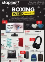 Staples Boxing Week Flyer Sale valid December 25 – December 29, 2020