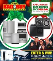 Bad Boy Furniture Boxing Day Flyer December 17, 2020 – January 6, 2021
