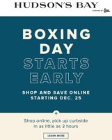 The Boy Boxing Day Flyer Sale valid December 25 - December 31, 2020