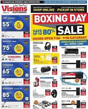 Visions Boxing Day Flyer Sale valid December 24 - December 31, 2020