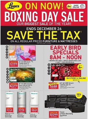Leon's Boxing Week Flyer Sale valid December 24 - December 31, 2020