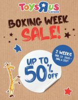 Toys R Us Boxing Day Flyer Sale valid December 22, 2020 - January 3, 2021